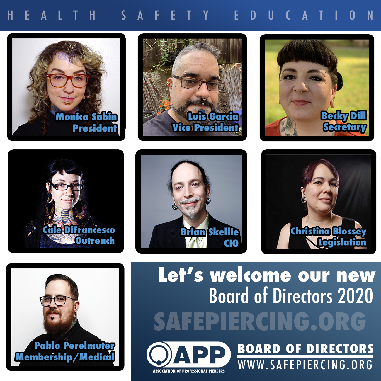 2020 Incoming APP Board & Officer